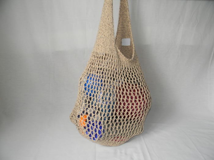 Marketing Bag with open weave fabric.